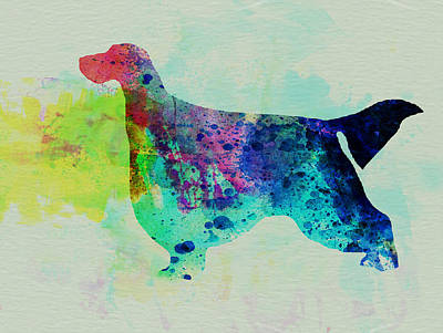 Gordon Setter Watercolor Poster by Naxart Studio