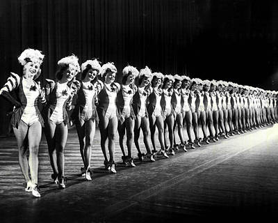 Gorgeous Rockettes Pose For Picture On Stage Poster by Retro Images Archive
