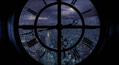 Gotham Viewed From Above Poster