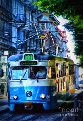 Gothenburg Tram Painting Poster by Antony McAulay
