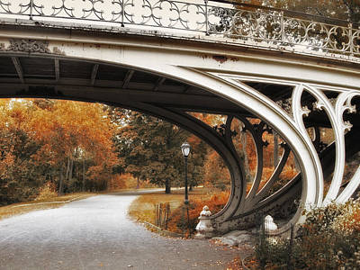 Gothic Bridge In Autumn Poster by Jessica Jenney