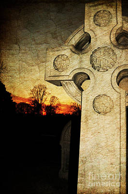 Gothic Cross Poster by Paul Ward