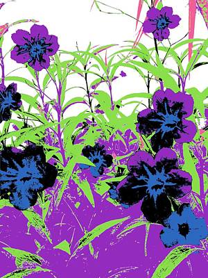 Poster featuring the digital art Gothic Garden Orchid by David Clark