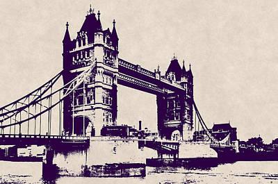 Gothic Victorian Tower Bridge - London Poster