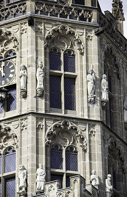 Gothic Windows On Tower Of Rathaus Cologne Germany Poster by Teresa Mucha