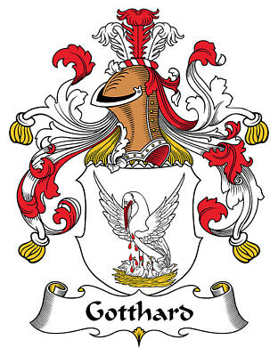 Gotthard Coat Of Arms German Poster by Heraldry