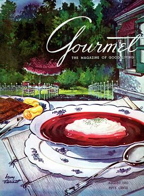 Gourmet Cover Featuring A Bowl Of Borsch Poster by Henry Stahlhut