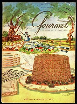 Gourmet Cover Featuring A Buffet Farm Scene Poster