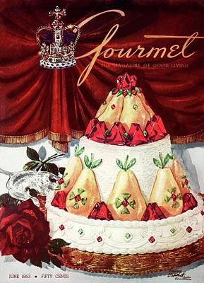 Gourmet Cover Featuring A Cake Poster