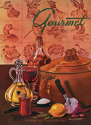 Gourmet Cover Featuring A Casserole Pot Poster by Henry Stahlhut