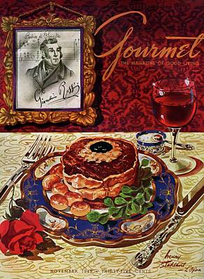 Gourmet Cover Featuring A Plate Of Tournedos Poster by Henry Stahlhut