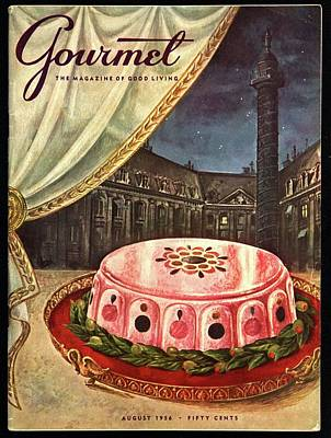 Gourmet Cover Featuring Ham Mousse Poster by Hilary Knight