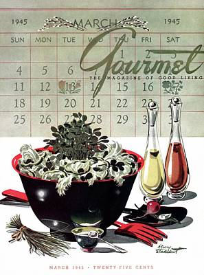 Gourmet Cover Illustration Of A Bowl Of Salad Poster by Henry Stahlhut