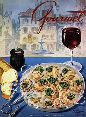 Gourmet Cover Illustration Of A Platter Poster
