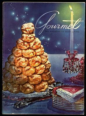 Gourmet Cover Illustration Of Croquembouche Poster by Henry Stahlhut