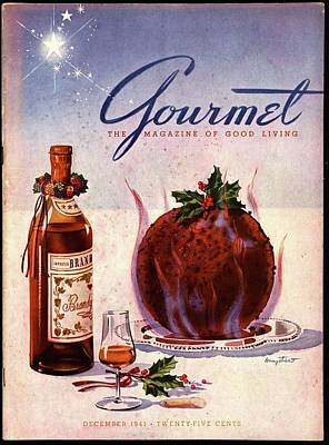 Gourmet Cover Illustration Of Flaming Chocolate Poster by Henry Stahlhut