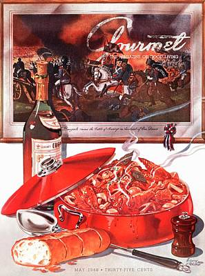 Gourmet Cover Of Coq-au-vin Poster by Henry Stahlhut