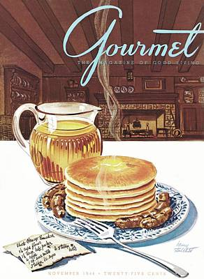 Gourmet Cover Of Pancakes Poster by Henry Stahlhut