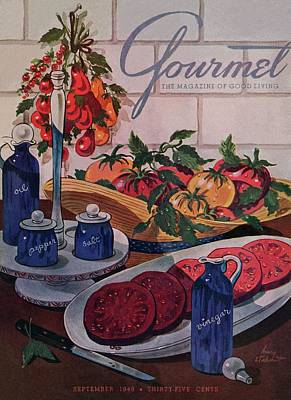 Gourmet Cover Of Tomatoes And Seasoning Poster