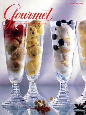 Gourmet Magazine Cover Featuring Ice Cream Poster
