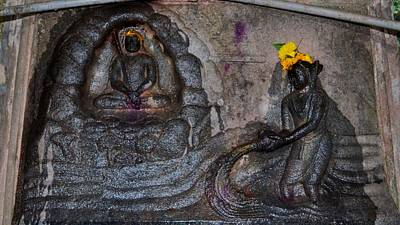 Govinda's Cave - Omkareshwar India Poster