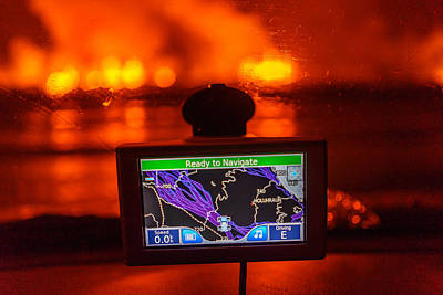 Gps With The Holuhraun Fissure Eruption Poster