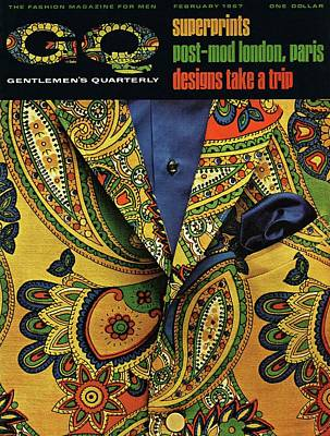 Gq Cover Featuring A Paisley Jacket Poster by Leonard Nones