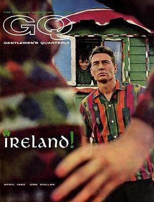 Gq Cover Of Model In Ireland Poster by Chadwick Hall