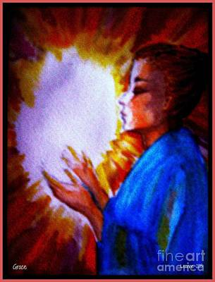 Poster featuring the painting Grace - 1 by Leanne Seymour