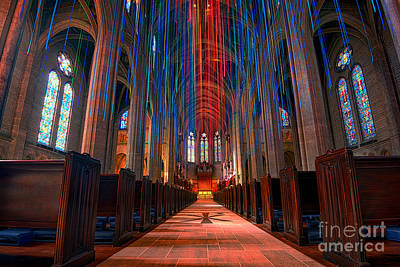 Grace Cathedral San Francisco Poster by Peter Dang