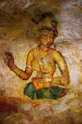 Graceful Absara. Sigiriya Cave Painting Poster by Jenny Rainbow