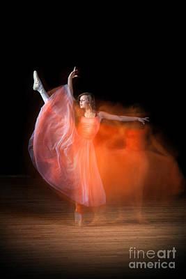 Graceful Ballerina Spirit Dance Poster