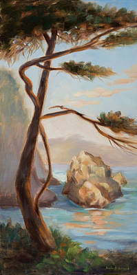 Graceful Pine In Afternoon Light At Point Lobos Poster by Karin  Leonard