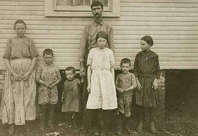 Gracie Clark, Spinner, With Her Family, Hunstville, Alabama Poster