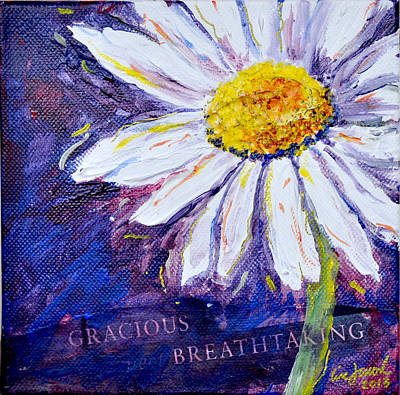 Poster featuring the painting Gracious Daisy by Lisa Fiedler Jaworski