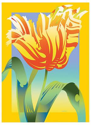Gradient Parrot Poster
