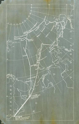 Graf Zeppelin Polar Flight Chart Poster by Us Coast Guard