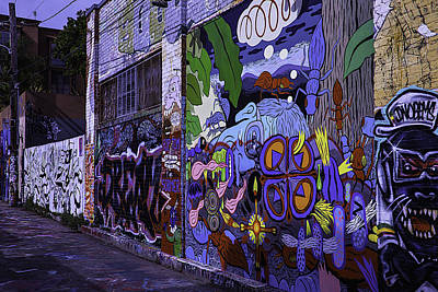 Graffiti Alley San Francisco Poster by Garry Gay