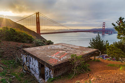 Graffiti By The Golden Gate Bridge Poster