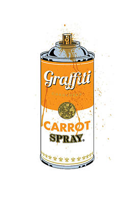 Graffiti Carrot Spray Can Poster