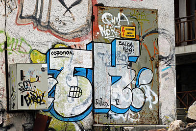 Graffiti In Sozopol Poster by Tony Murtagh