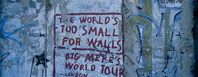 Graffiti On A Wall, Berlin Wall Poster by Panoramic Images