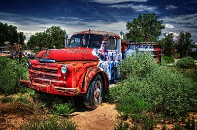 Poster featuring the photograph Grafitti Fire Truck by Ken Smith
