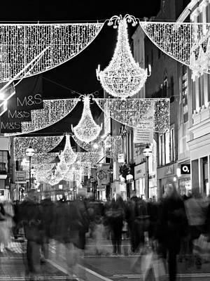 Grafton Street At Christmas / Dublin Poster by Barry O Carroll