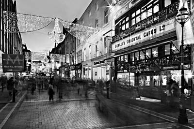 Poster featuring the photograph Grafton Street At Night / Dublin by Barry O Carroll