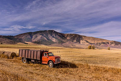 Poster featuring the photograph Grain Truck by Jeremy Farnsworth