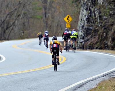 Gran Fondo Bike Ride Poster by Susan Leggett
