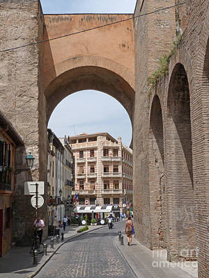 Poster featuring the photograph Granada Old City Gateway by Phil Banks