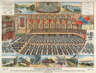 Grand Banquet, Given By The Citizens Of Cincinnati Poster by Litz Collection