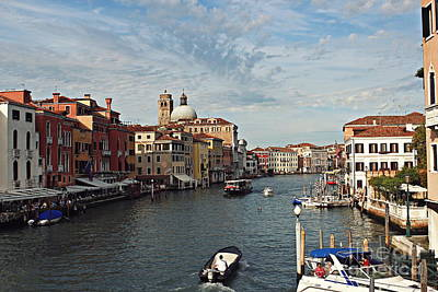 Poster featuring the photograph Grand Canal In Venice by Cendrine Marrouat